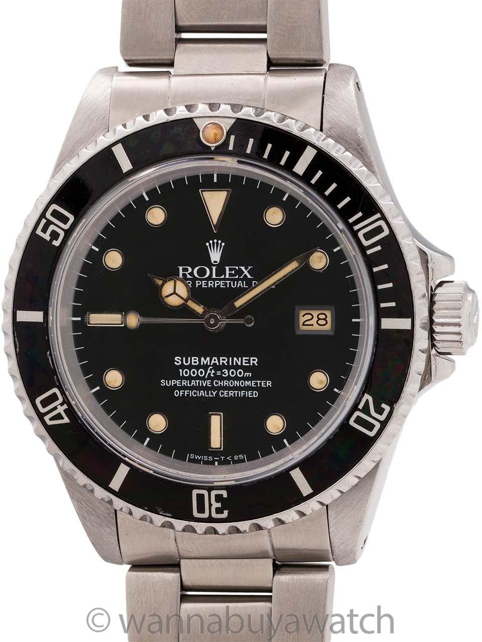 Rolex Submariner ref# 16610 Stainless Steel circa 1991