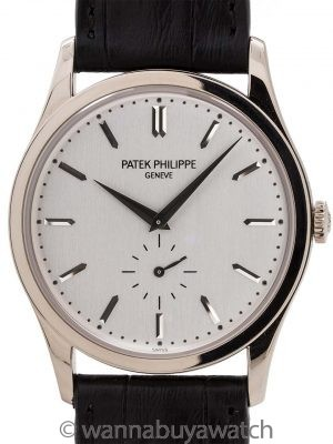 Patek Philippe 18K White Gold Calatrava ref 5196G Box & Papers