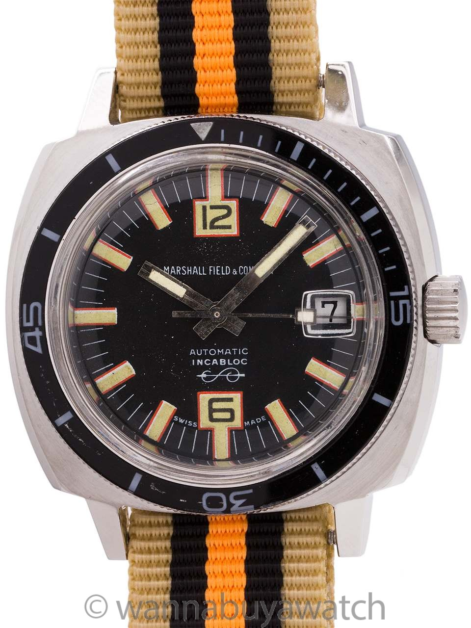 Marshal Fields Diver's Automatic circa 1960's