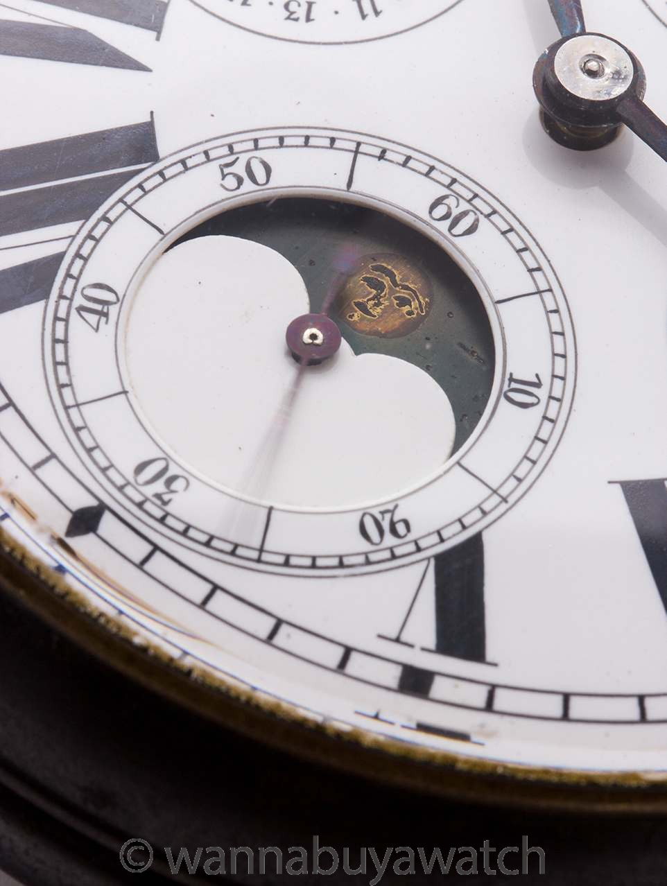 Swiss Oversize Coach Watch with Calendar and Moonphase circa 1900