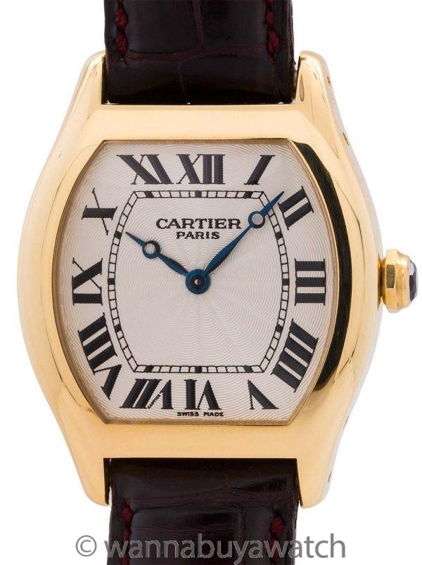 Cartier Tortue Man's 18K YG circa 1990's