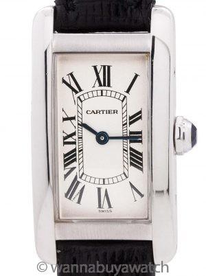 Cartier Tank American 18K WG Lady's circa 1990's