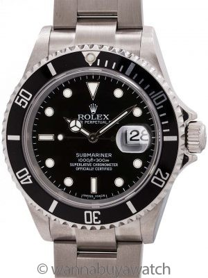 Rolex Submariner ref# 16610 circa 2001 Box & Papers