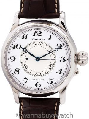 """Longines """"Weems"""" Second Setting Navigation circa 2010 Box and Book"""