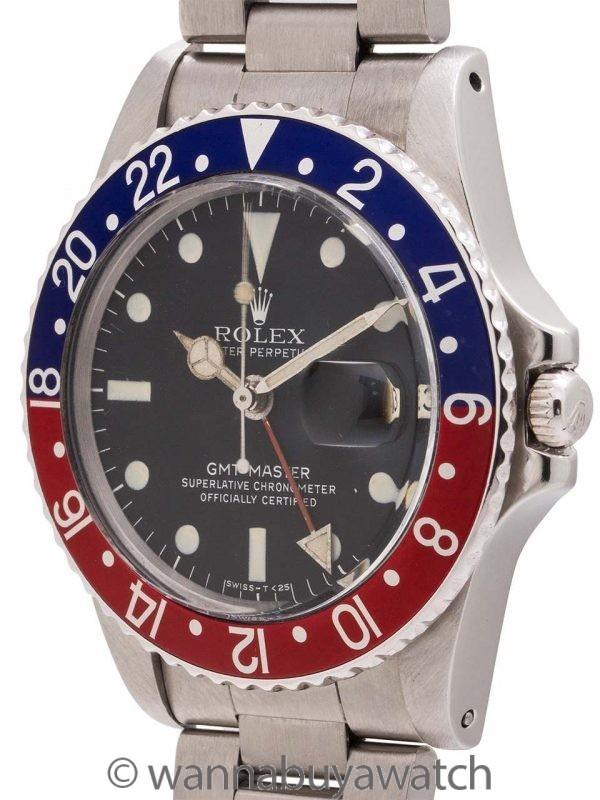 Rolex SS GMT-Master ref 1675 circa 1978