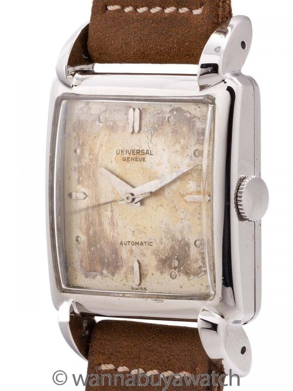 Universal Geneve Stainless Steel Automatic circa 1950's