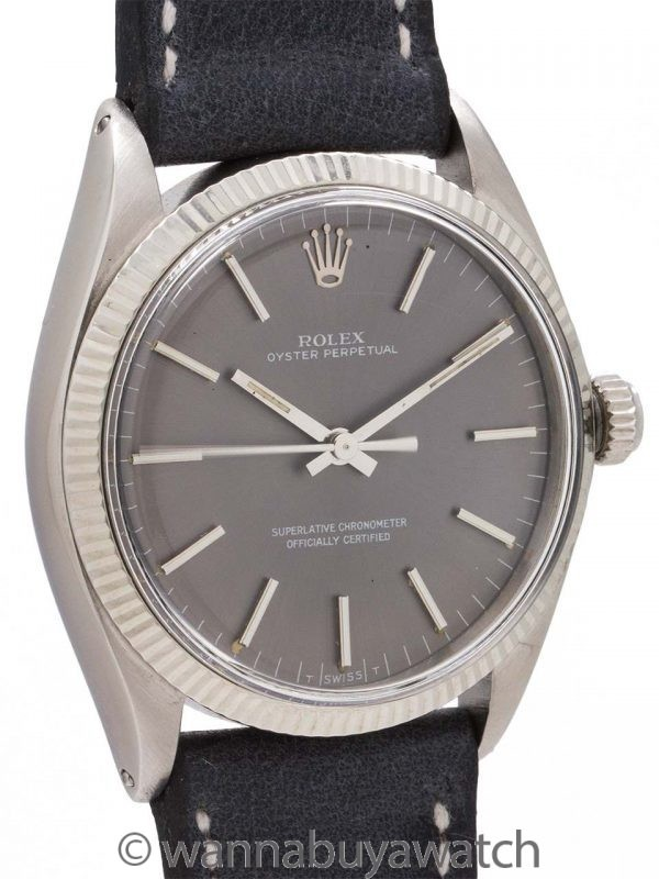 Rolex Oyster Perpetual ref 1005 SS/14K WG circa 1968