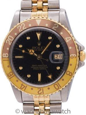 "Rolex 2 Tone ""Dark Chocolate"" GMT ref 16753 SS/18K circa 1982"