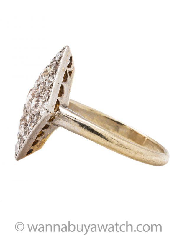 Vintage Pave Diamond Cocktail Ring 2.00ct OECs circa 1960s