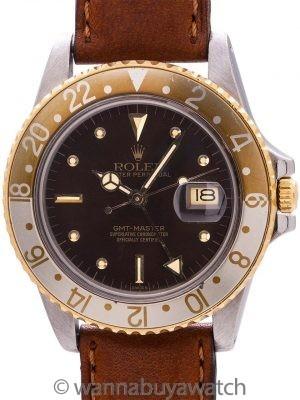 "Rolex GMT SS/18K YG ref 16753 ""Rootbeer"" circa 1980"