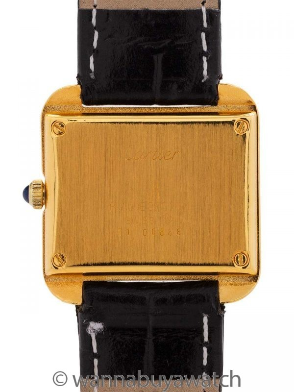 Cartier Lady's Tank Stepped Case circa 1970's