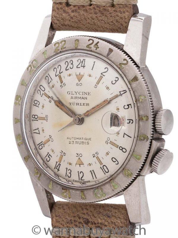 "Glycine Airman Automatic ""Turler"" circa 1954-55"