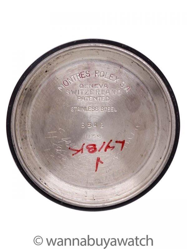 Rolex GMT ref 6542 Bakelite Bezel circa 1959