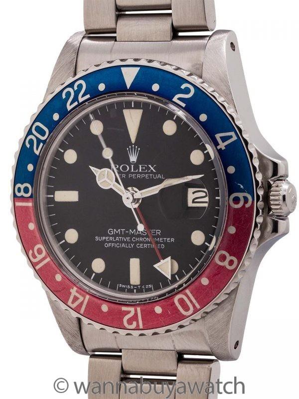 Rolex SS GMT-Master ref 1675 Mk 5 Dial circa 1978