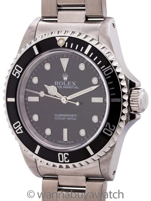 Rolex Submariner ref# 14060 Stainless Steel circa 2001 Box & Papers