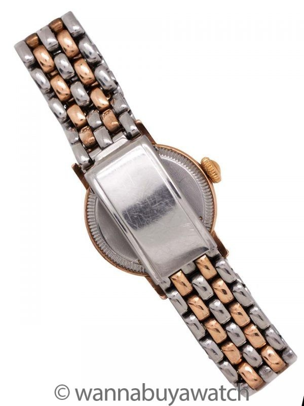 Lady Rolex Oyster PG/SS circa 1940's SS/PG Beads of Rice