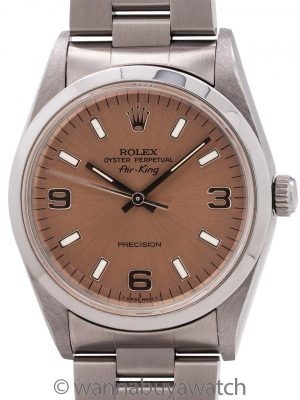 Rolex Stainless Steel Airking ref 14000 Explorer Dial circa 1995