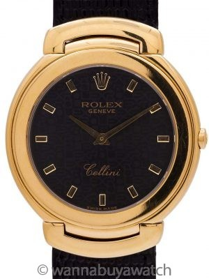 Rolex Cellini 18K YG ref 6623 with Strap, Buckle, & Box