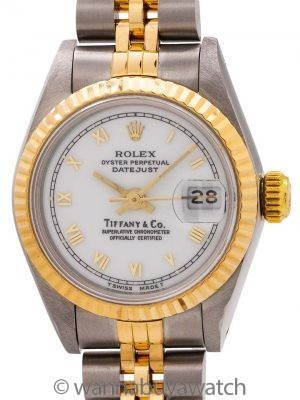 Lady Rolex Datejust Tiffany & Co ref 69173 circa 1998