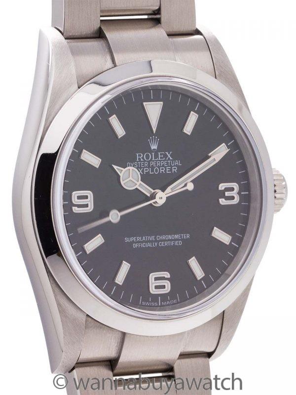 Rolex Stainless Steel Explorer ref 14270 circa 2000