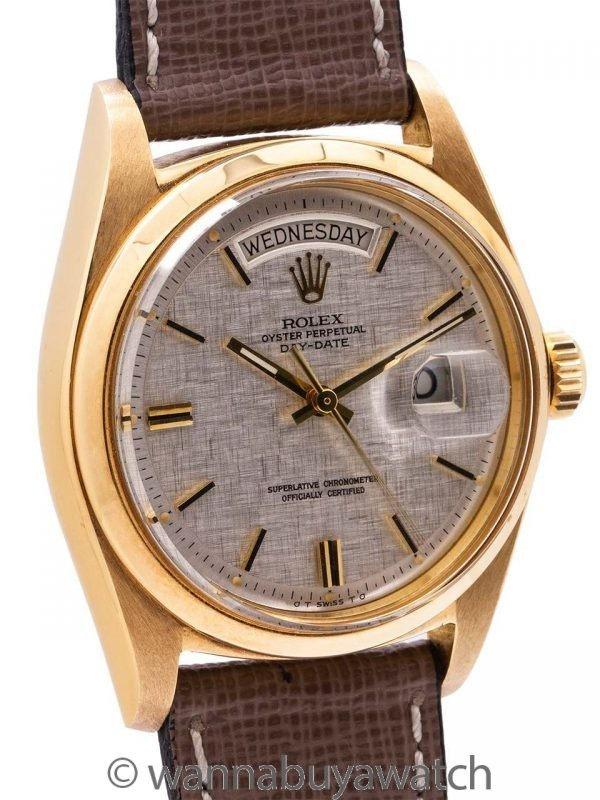 Rolex 18K YG Day Date Rare ref# 1802 circa 1974