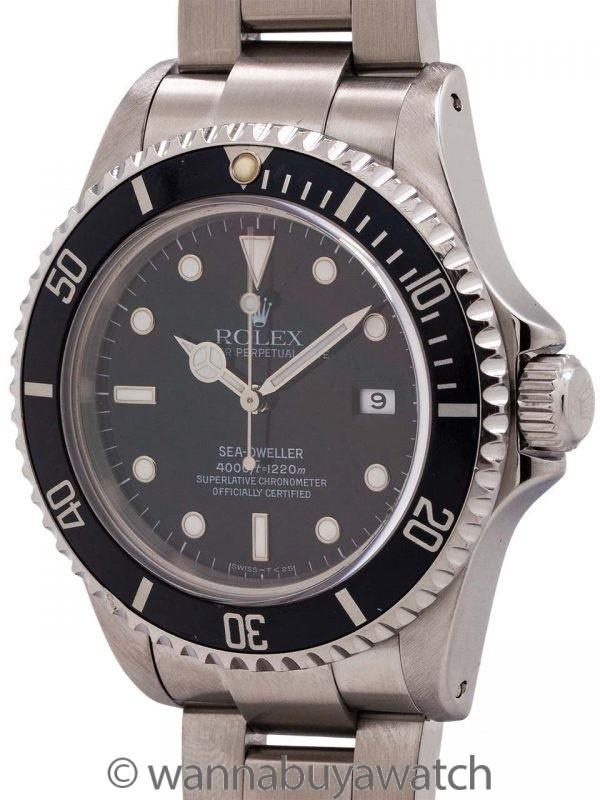 Rolex Sea-Dweller ref # 16600 Tritium Indexes circa 1993