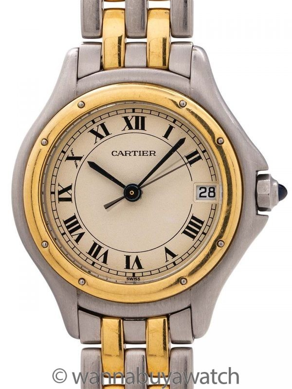 Cartier Lady's Cougar SS/18K YG circa 1980's