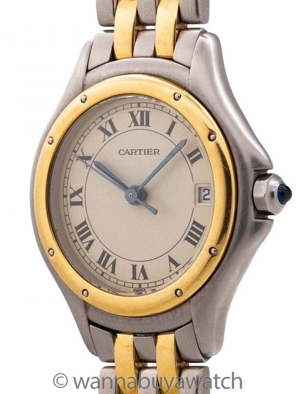 Cartier Lady's Cougar Stainless Steel circa 1980's