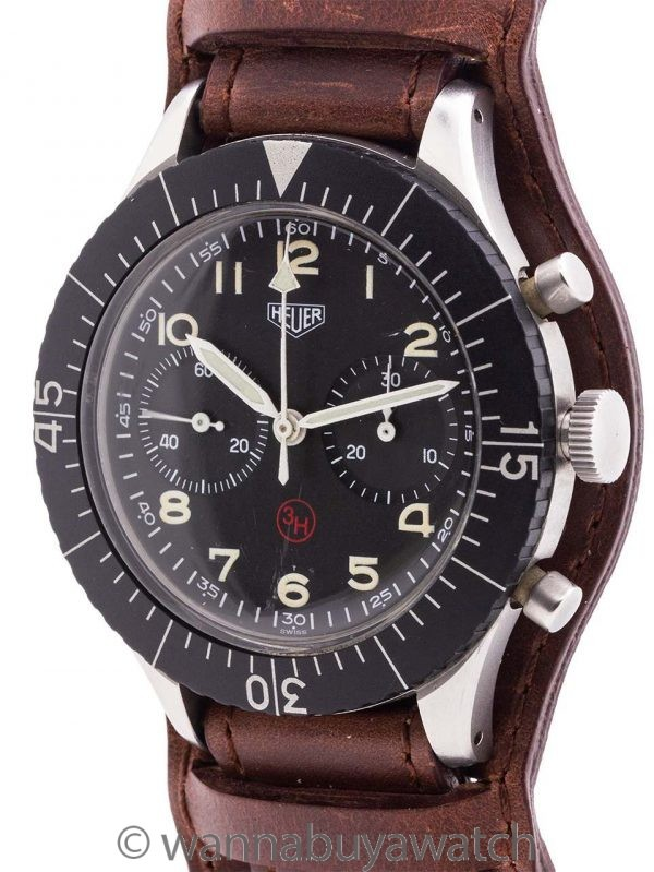 Heuer Bundeswehr Pilot's Flyback Chronograph circa 1960