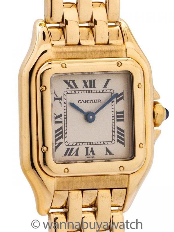 Lady's Cartier Panther 18K YG circa 1990s