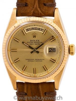 "Rolex Day Date ref 1803 ""Fat Boy"" Sigma Dial circa 1972"