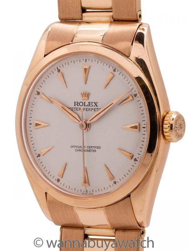 Rolex 18K PG Oyster Perpetual ref 6084 circa 1950