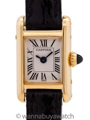"Cartier Lady ""Mini"" Tank Louis 18K YG circa 1980's"