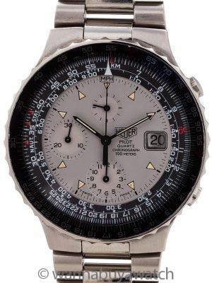 Heuer Pilot Quartz Chronograph circa 1980's
