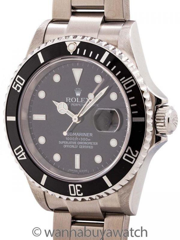 Rolex Submariner ref# 16610 Stainless Steel circa 2006
