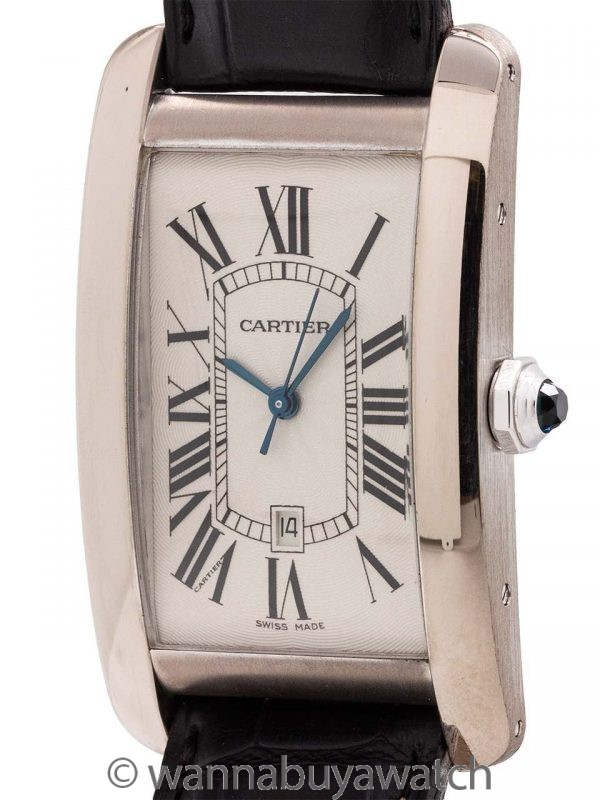 Cartier Tank American 18K WG Automatic ref 2521 circa 1990's