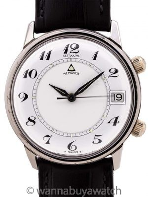 Lecoultre Memovox Alarm Stainless Steel circa early 1960's