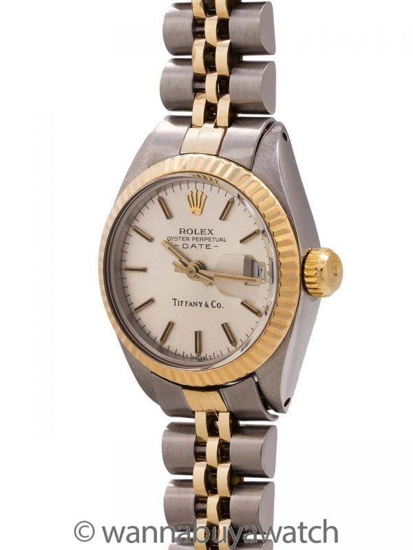 Lady Rolex Datejust Tiffany & Co ref 6917 circa 1982 Papers