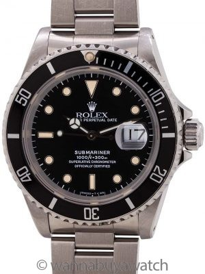 Rolex Submariner ref# 16610 Tropical Tritium circa 1988