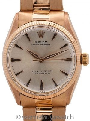 Rolex 18K PG Oyster Perpetual ref 6567 circa 1957