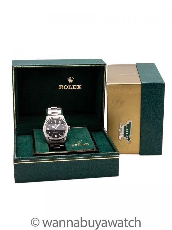 Rolex Explorer 1 ref 1016 Hack Feature circa 1985 Box & Papers