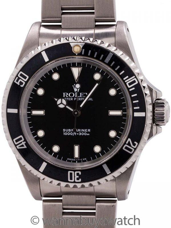Rolex Submariner ref 14060 Stainless Steel circa 1991