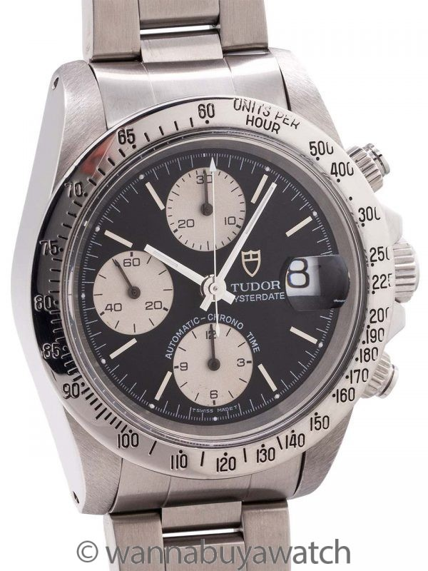 "Tudor Oyster Date Chronograph ref # 79160 ""Big Block"" circa 1980s"