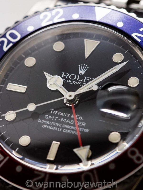 Rolex GMT ref 16750 Tiffany & Co Spider Dial circa 1985