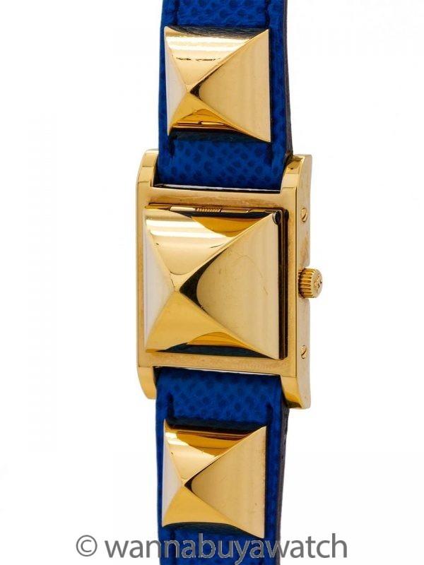 Lady's Hermes YGF Medor Blue Strap