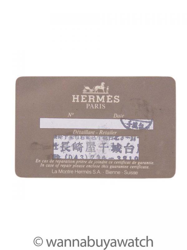 Lady's Hermes YGP Medor Red Strap