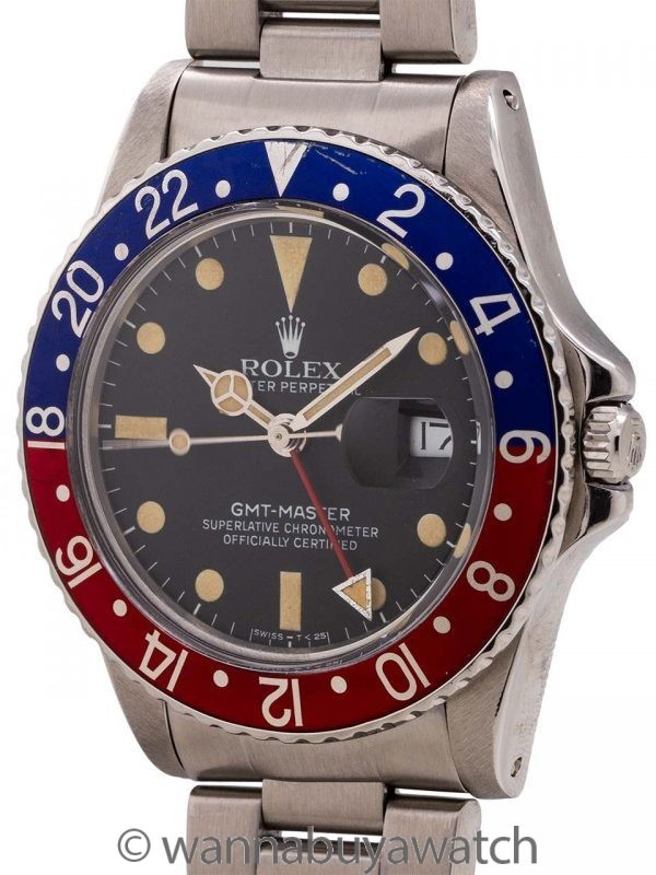 Rolex GMT ref 16750 Transitional Model Matte Dial circa 1982