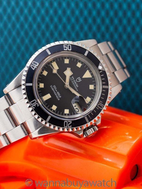 "Tudor Black ""Snowflake"" Submariner w/ Date ref# 94100 circa 1980"