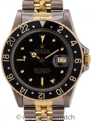 Rolex GMT ref 1675/3 SS/14K YG circa 1982