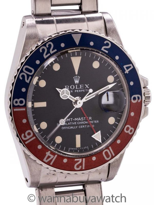 Rolex SS GMT-Master ref 1675 Mark 1 Dial circa 1967
